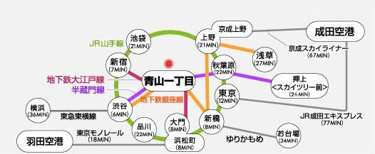 青山一丁目・乃木坂駅より徒歩5分